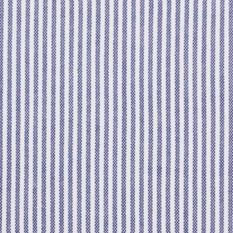 コットン&ポリウレタン×ストライプ(ブルー)×コードレーンストレッチ サムネイル1