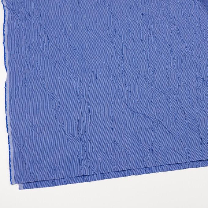 コットン&ポリエステル×ストライプ(ブルー)×ブロードワッシャー イメージ2