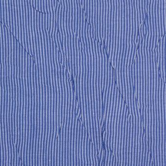 コットン&ポリエステル×ストライプ(ブルー)×ブロードワッシャー サムネイル1