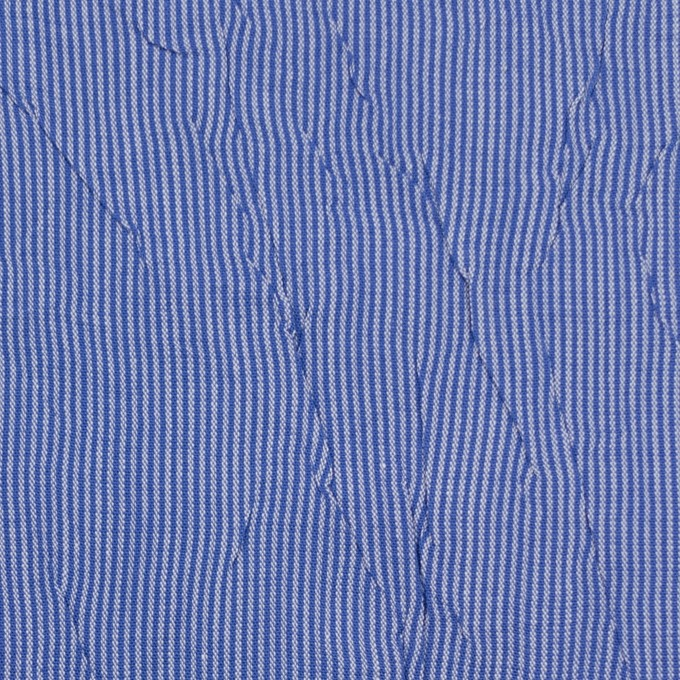 コットン&ポリエステル×ストライプ(ブルー)×ブロードワッシャー イメージ1