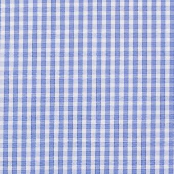 コットン×チェック(サルビアブルー)×ブロード サムネイル1