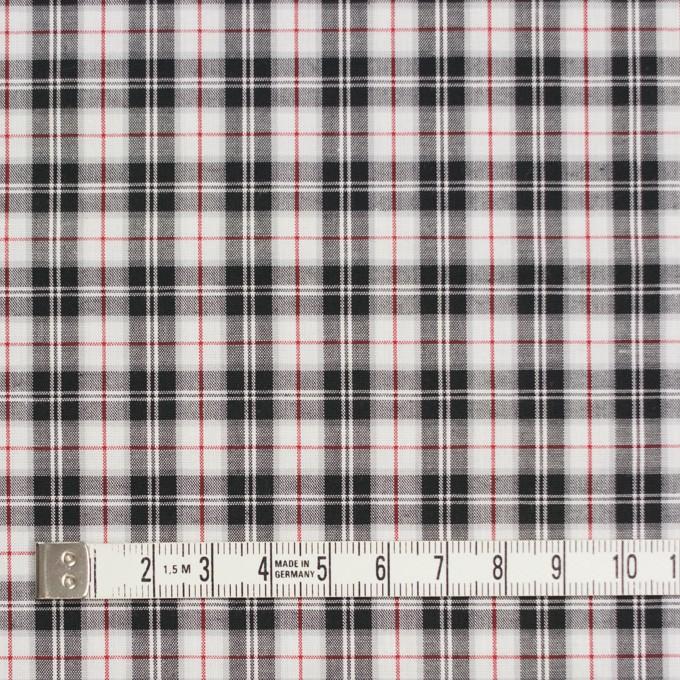 コットン×チェック(レッド&ブラック)×ブロード イメージ4