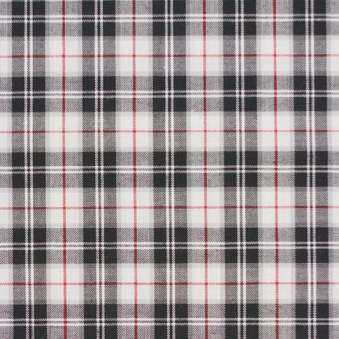 コットン×チェック(レッド&ブラック)×ブロード イメージ1