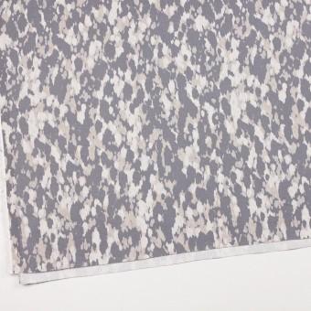 コットン&ポリウレタン×幾何学模様(パープルグレー)×チノクロス・ストレッチ_全2色 サムネイル2