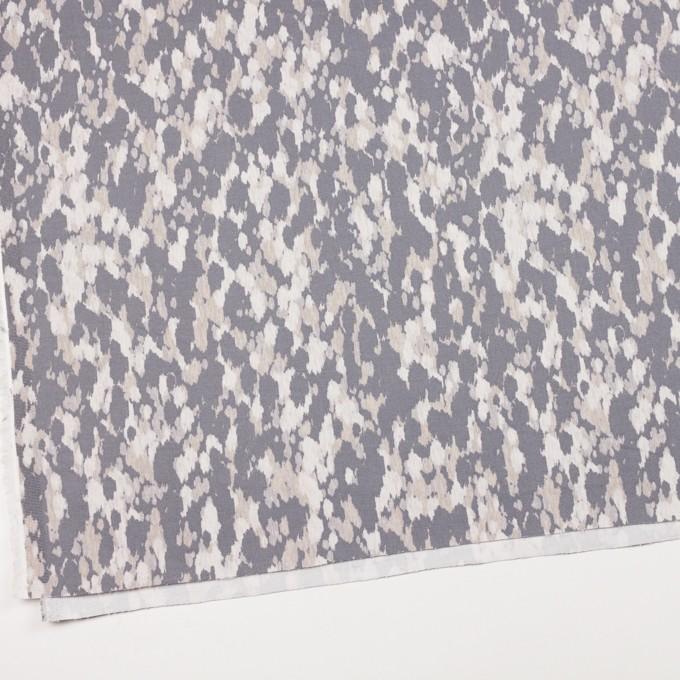 コットン&ポリウレタン×幾何学模様(パープルグレー)×チノクロス・ストレッチ_全2色 イメージ2