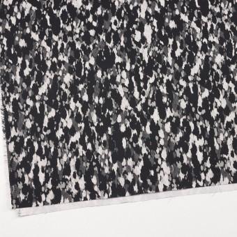 コットン&ポリウレタン×幾何学模様(ブラック)×チノクロス・ストレッチ_全2色 サムネイル2