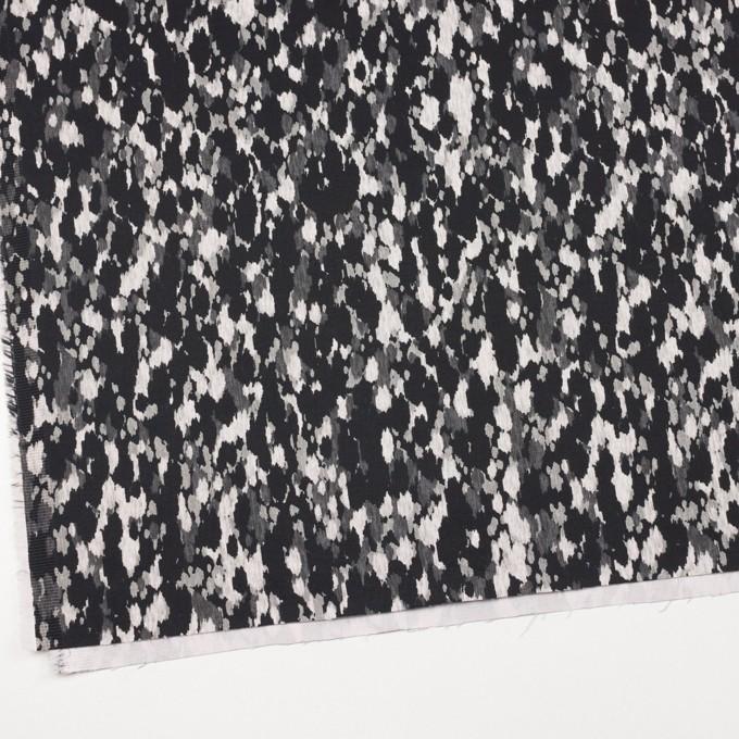 コットン&ポリウレタン×幾何学模様(ブラック)×チノクロス・ストレッチ_全2色 イメージ2