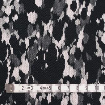 コットン&ポリウレタン×幾何学模様(ブラック)×チノクロス・ストレッチ_全2色 サムネイル4