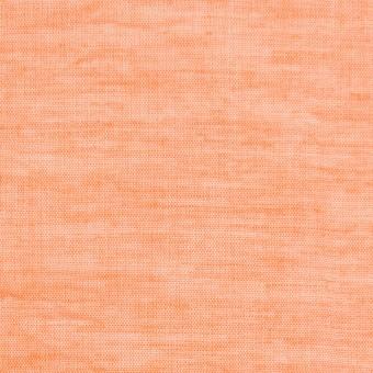 コットン&リネン×無地(オレンジ)×ボイルワッシャー_全6色