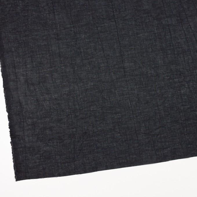コットン&リネン×無地(ブラック)×ボイルワッシャー_全6色 イメージ2