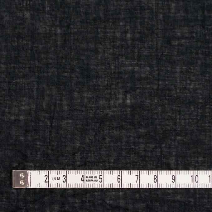コットン&リネン×無地(ブラック)×ボイルワッシャー_全6色 イメージ4