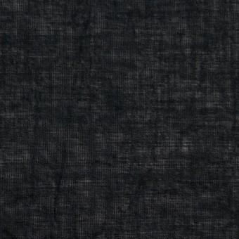 コットン&リネン×無地(ブラック)×ボイルワッシャー_全6色