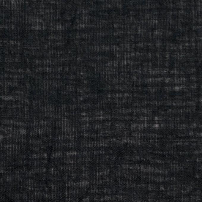 コットン&リネン×無地(ブラック)×ボイルワッシャー_全6色 イメージ1