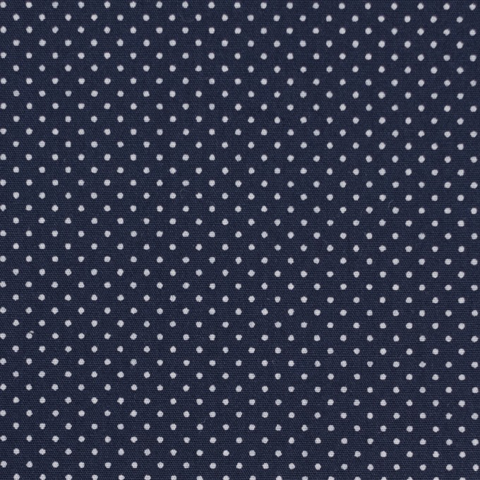 コットン×ドット(ネイビー)×ブロード イメージ1