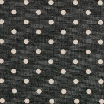 コットン×ドット(ブラック&バニラ)×ボイル_全2色 サムネイル1