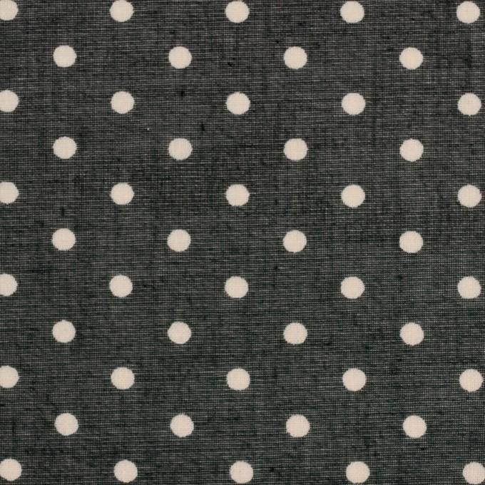 コットン×ドット(ブラック&バニラ)×ボイル_全2色 イメージ1