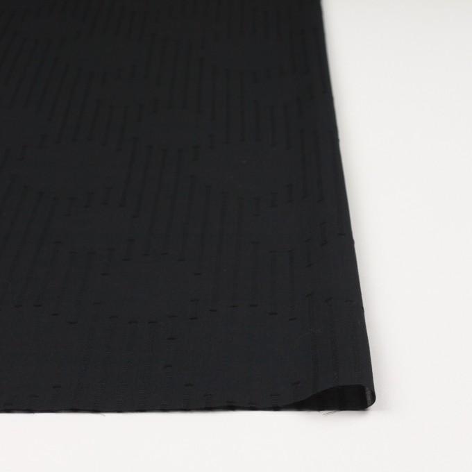 コットン×幾何学模様(ブラック)×ボイルジャガード イメージ3