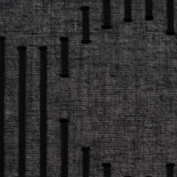 コットン×幾何学模様(ブラック)×ボイルジャガード イメージ1