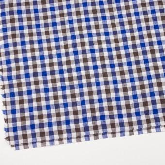 リネン×チェック(ブルー&ブラウン)×薄キャンバス サムネイル2