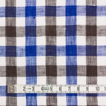 リネン×チェック(ブルー&ブラウン)×薄キャンバス サムネイル4
