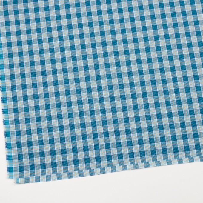 コットン×チェック(ブルーミックス)×ブロード イメージ2