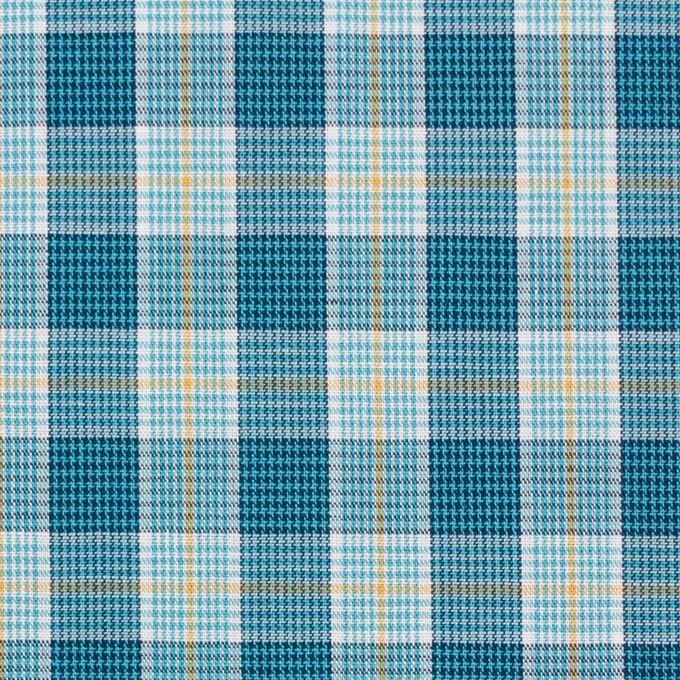 コットン×チェック(ブルーミックス)×ブロード イメージ1