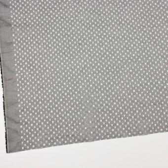 コットン×ドット(グレー)×シャンブレー刺繍 サムネイル2