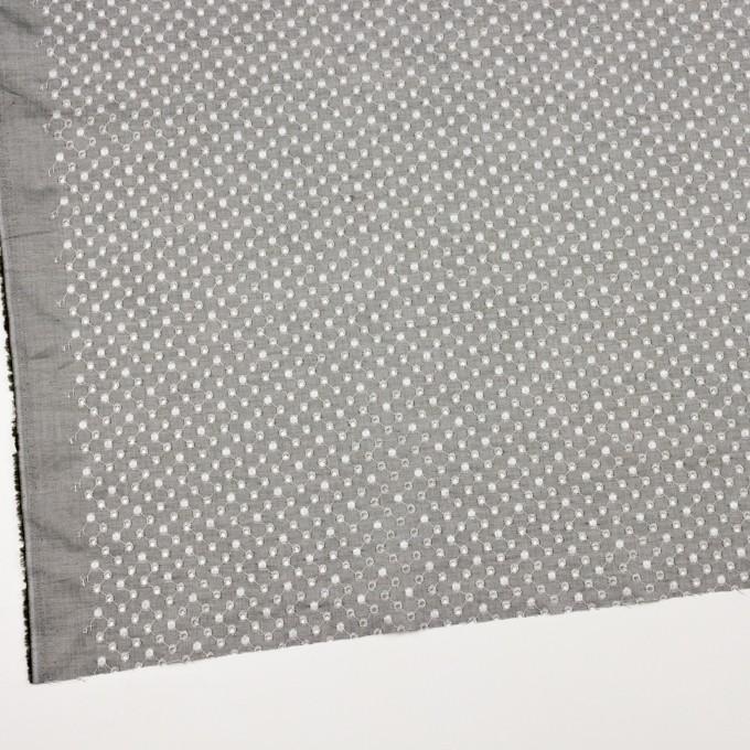 コットン×ドット(グレー)×シャンブレー刺繍 イメージ2