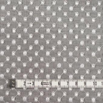 コットン×ドット(グレー)×シャンブレー刺繍 サムネイル4