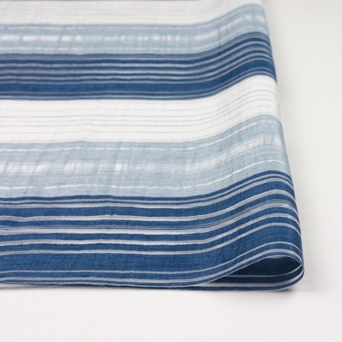 コットン&ナイロン混×ボーダー(ブルーミックス)×オーガンジーワッシャー イメージ3