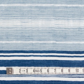コットン&ナイロン混×ボーダー(ブルーミックス)×オーガンジーワッシャー サムネイル4