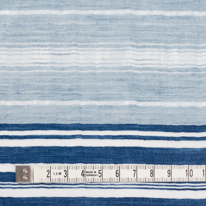 コットン&ナイロン混×ボーダー(ブルーミックス)×オーガンジーワッシャー イメージ4