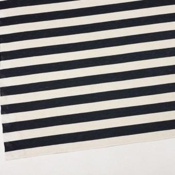 コットン&モダール×ボーダー(アイボリー&ブラック)×天竺ニット サムネイル2
