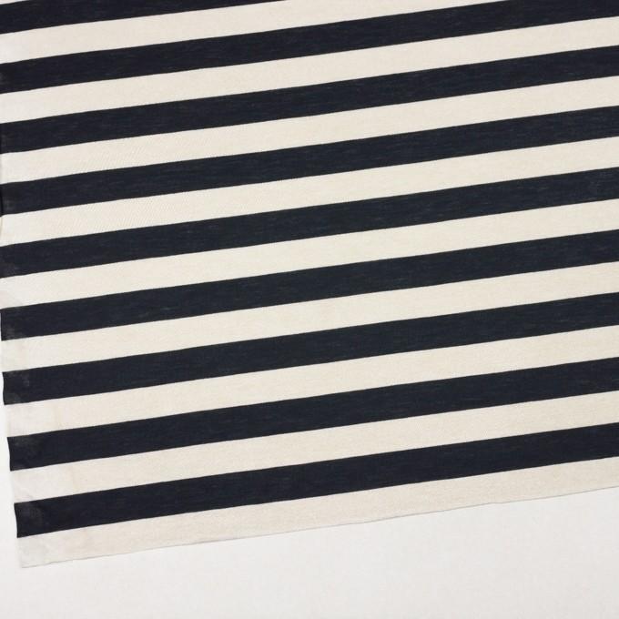 コットン&モダール×ボーダー(アイボリー&ブラック)×天竺ニット イメージ2