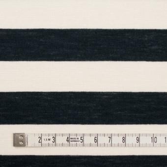 コットン&モダール×ボーダー(アイボリー&ブラック)×天竺ニット サムネイル4