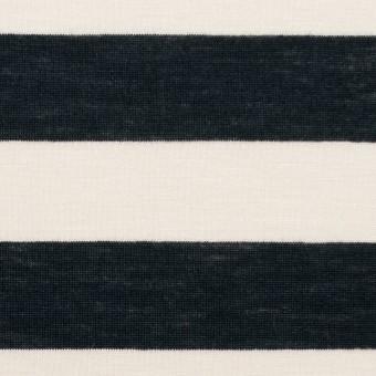 コットン&モダール×ボーダー(アイボリー&ブラック)×天竺ニット