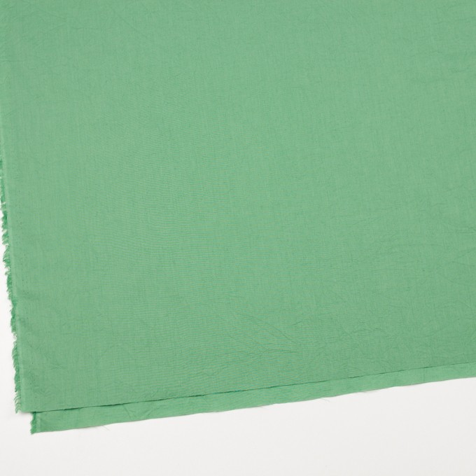 コットン&リネン×無地(グリーン)×ボイルワッシャー_全5色 イメージ2