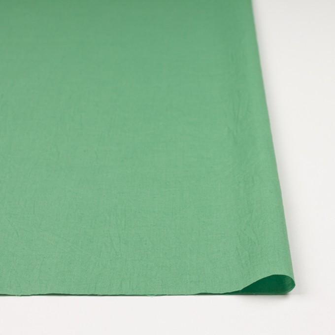 コットン&リネン×無地(グリーン)×ボイルワッシャー_全5色 イメージ3