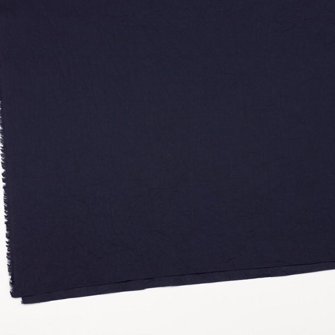 コットン&リネン×無地(ネイビー)×ボイルワッシャー_全5色 イメージ2