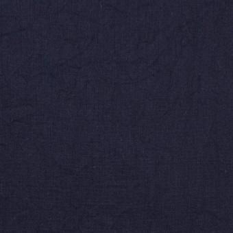 コットン&リネン×無地(ネイビー)×ボイルワッシャー_全5色 サムネイル1