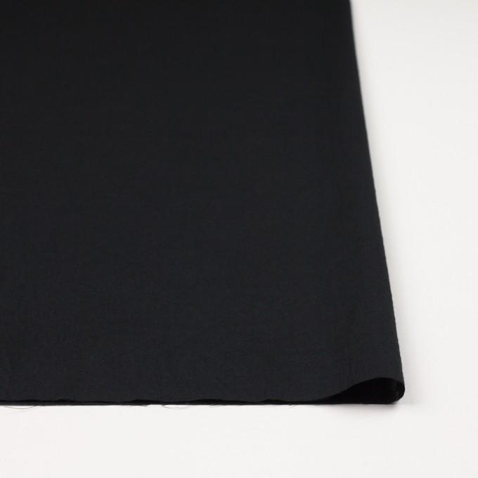 コットン&リネン×無地(ブラック)×ボイルワッシャー_全5色 イメージ3
