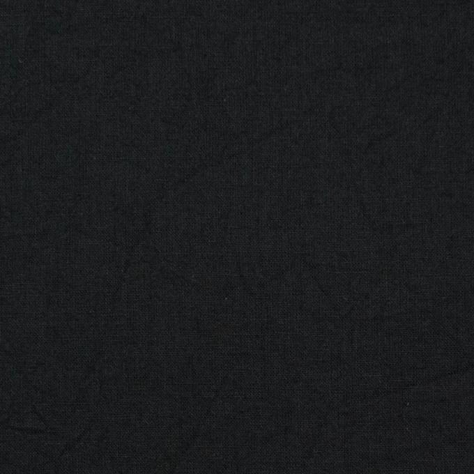 コットン&リネン×無地(ブラック)×ボイルワッシャー_全5色 イメージ1