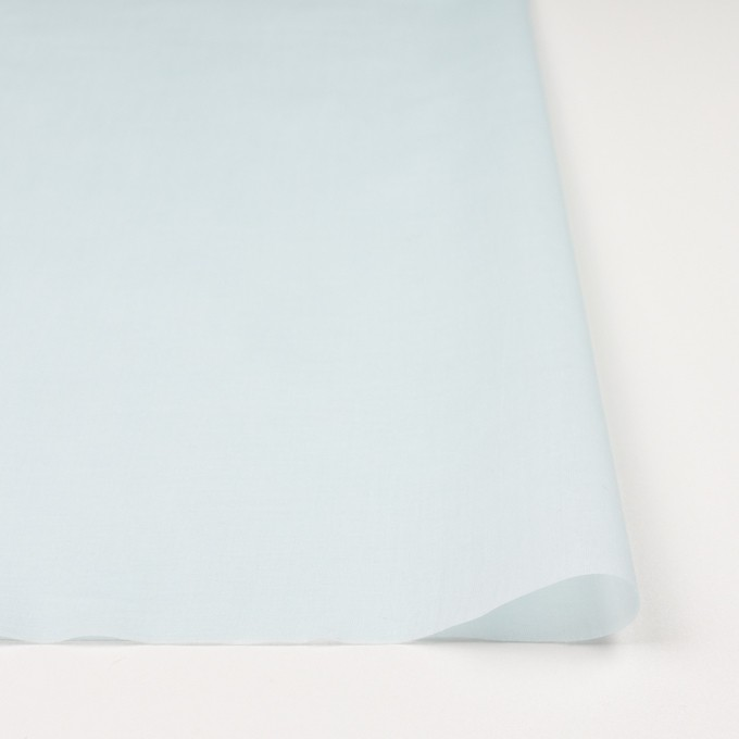コットン×無地(シャーベットブルー)×ボイル_全9色_フランス製 イメージ3