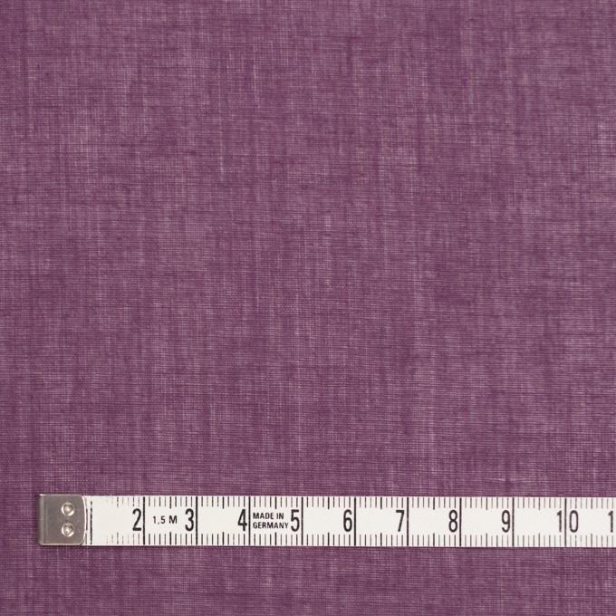 コットン×無地(プラムパープル)×ボイル_全9色_フランス製 イメージ4