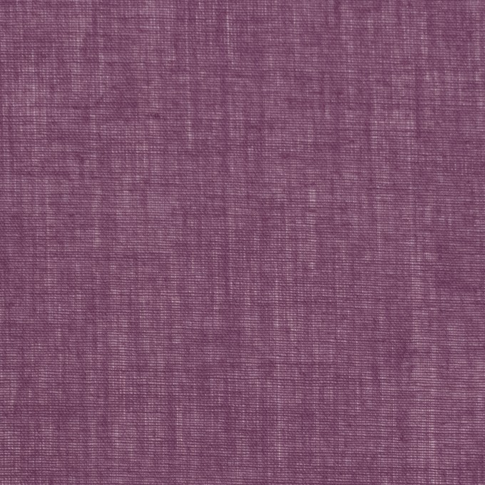 コットン×無地(プラムパープル)×ボイル_全9色_フランス製 イメージ1