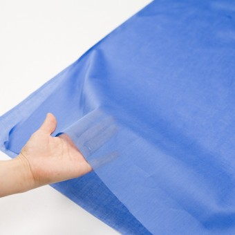 コットン×無地(ダッジブルー)×ボイル_全9色_フランス製 サムネイル5