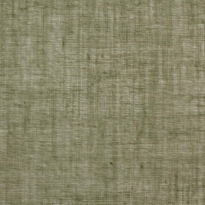 コットン×無地(カーキグリーン)×ボイル_全9色_フランス製 イメージ1