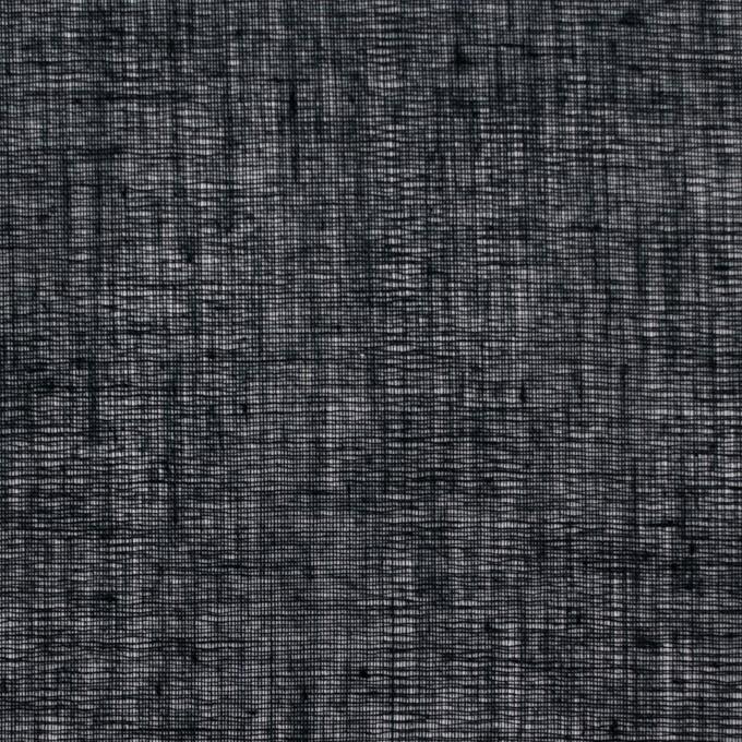 コットン×無地(ブラック)×ボイル_全9色_フランス製 イメージ1
