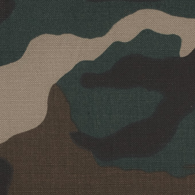 コットン×迷彩(カーキミックス)×キャンバス イメージ1
