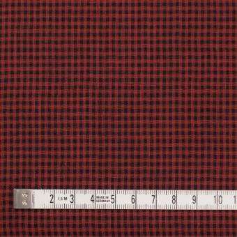 コットン×チェック(レッド&ブラック)×Wガーゼ_全3色 サムネイル4